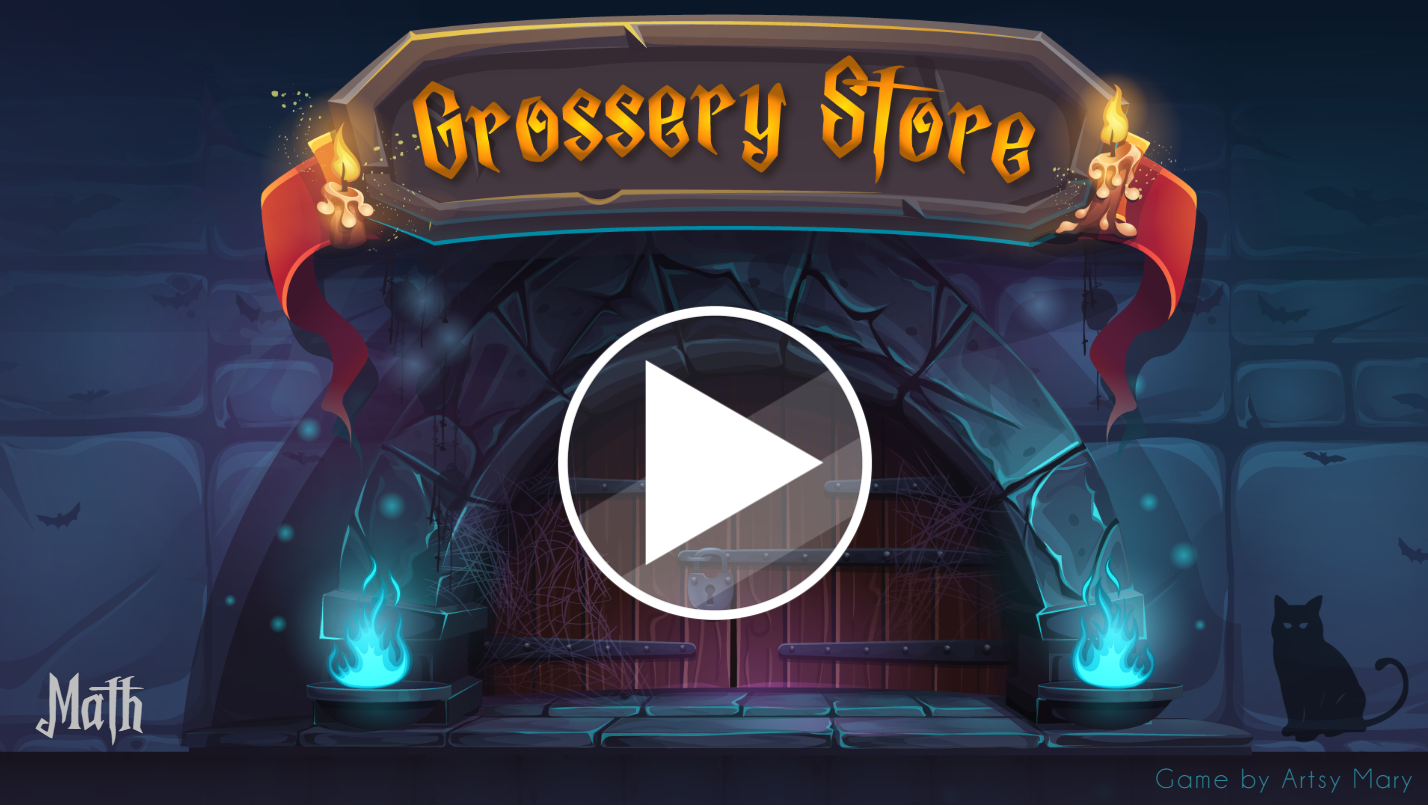 Press Enter to Launch the Grossery Store Math game