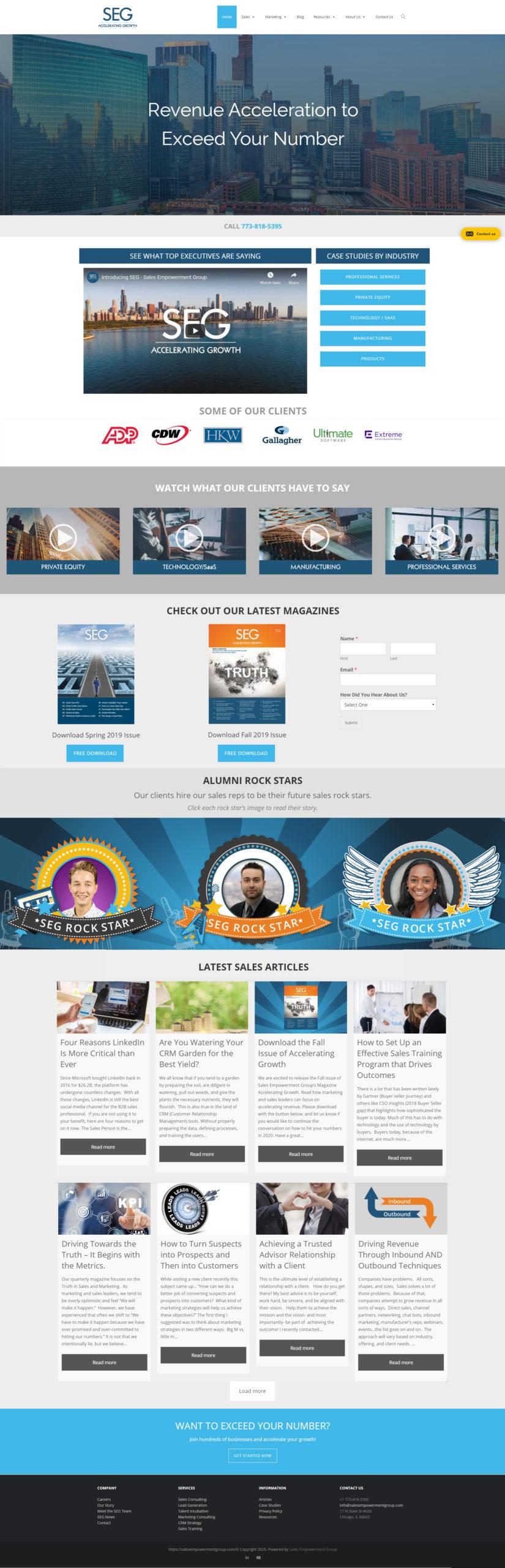 Sales Empowerment Group Site Design