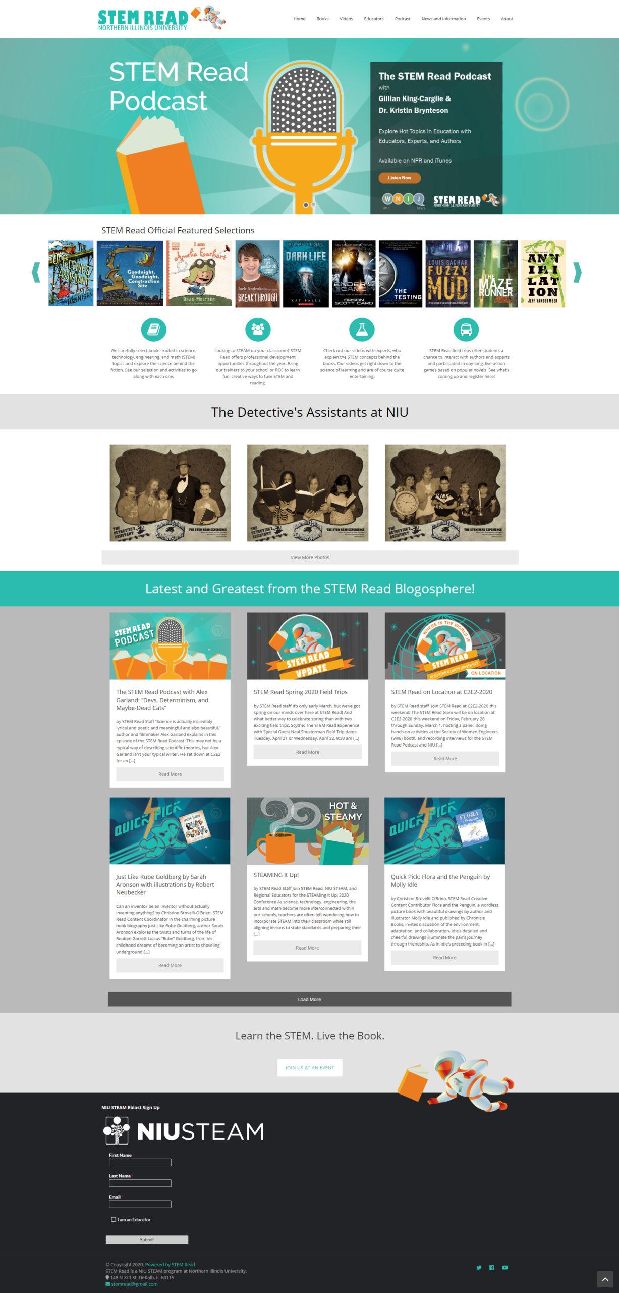 STEM Read Site Design